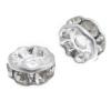Rhinestone Bead 6mm Rondelle Silver/Crystal